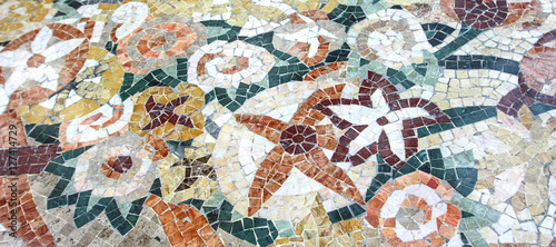 Mosaique Decor Floral Buy This Stock Photo And Explore Similar