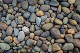 Fototapeta Kamienie - Natural colorful stone on the beach, outdoor day light