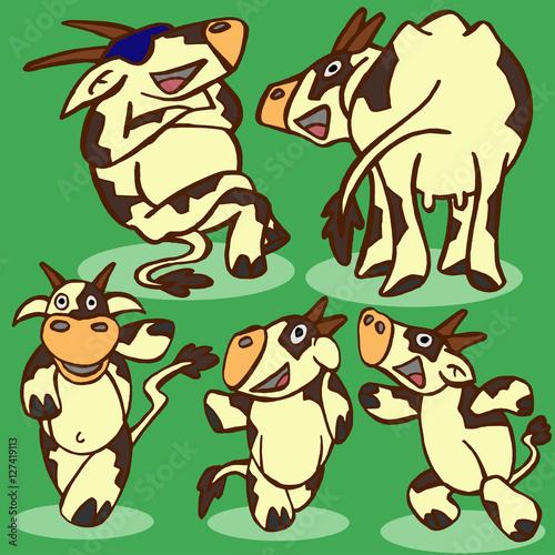 Deurstickers Pony funny cows