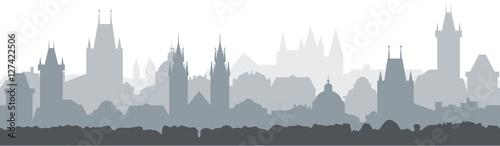Photo  Cityscape seamless background