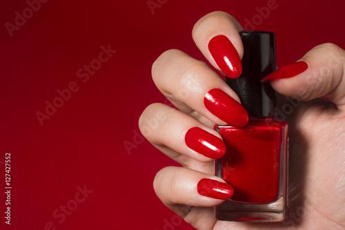 Obraz na plátně red nail polish