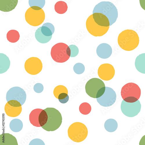 Materiał do szycia Duże kolorowe kropki wzór.