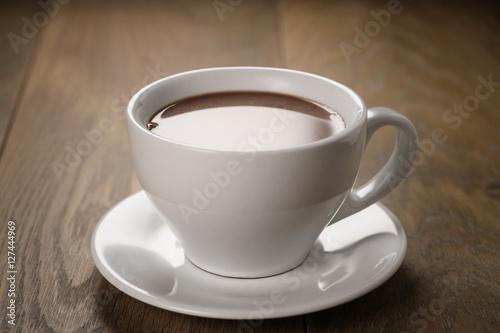 Foto op Plexiglas Chocolade hot chocolate in cappuccino cup
