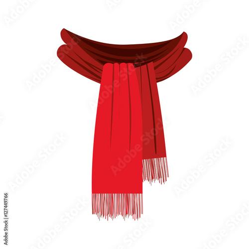 Fotografie, Obraz  scarf with fringe icon image vector illustration design