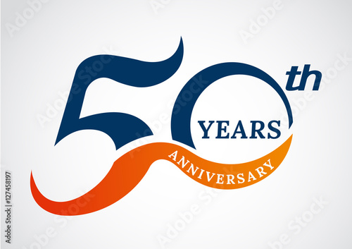 Photo  Template logo 50th anniversary years logo.-vector illustration