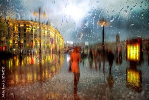 Fotomural Дождь в Санкт-Петербурге