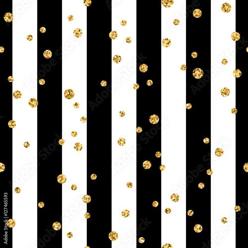zlota-polka-dot-na-linii-bezszwowe-tlo-wzor-folia-zlote-konfetti-czarno-biale-paski-dekoracja