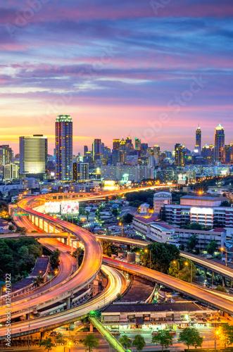 Poster Bangkok Bangkok city view with expressway.
