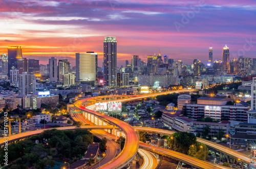 Keuken foto achterwand Peking Bangkok city view with expressway.