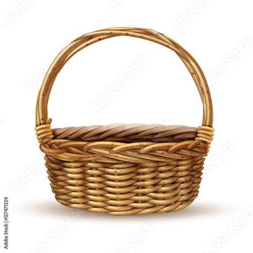 Fotografija  Basket Realistic Side View Image