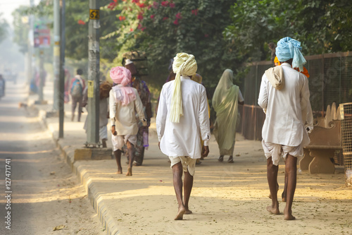 Pilgrims on parikrama in india