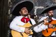Leinwanddruck Bild - Mexican musicians in the studio, in the interior. Mexico, mariachi, artist, guitarist.