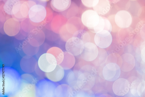 Fotografie, Obraz  Blurred background, Abstract colorful bokeh light shape