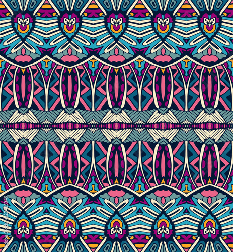 Materiał do szycia etniczne geometrycznej paski bezszwowe tribal wzór