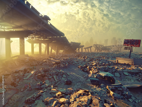 Photo Apocalyptic landscape