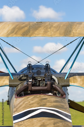 Fotografie, Obraz  Classic military plane with guns