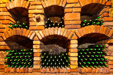 FototapetaMany bottles in wine cellar
