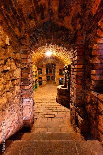Fotografie, Obraz  Small wine cellar with bottles