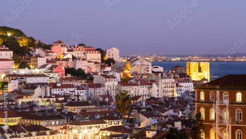 Foto op Aluminium Palermo Cityscape of Lisbon, Portugal, seen from Miradouro Sao Pedro de