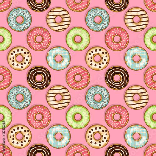 Materiał do szycia Pączki wzór na różowym tle