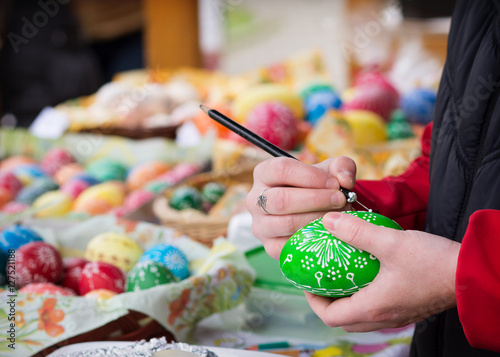 Tuinposter Oost Europa Easter egg traditional art