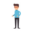 man character isolated icon vector illustration design