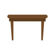 table wooden isolated icon vector illustration design