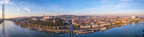 Slovak capital Bratislava city panorama Wallpaper Mural