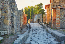 Ancient Ruins In Pompeii, Italy