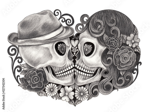 Skull Art Day Of The Dead Design Head Wedding Action Smiley Face