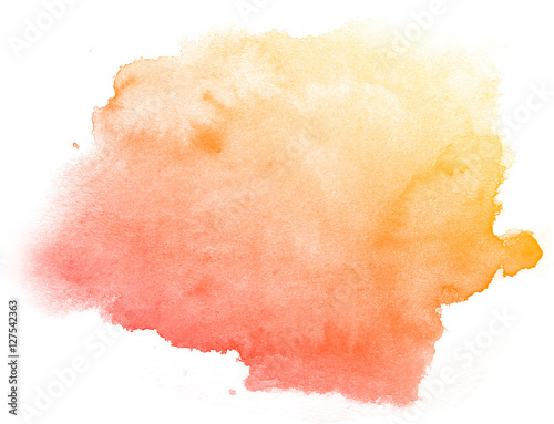 Abstract red watercolor on white background Canvas-taulu