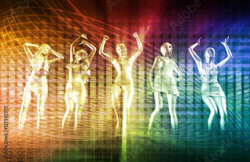 Fotografie, Obraz  Ladies Going Clubbing