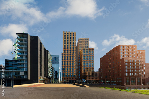 Photo  Amsterdam Zuid business district with office buildings at Netherlands