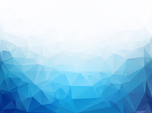 Geometric Blue Ice Low Poly Background