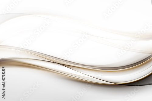 Foto op Plexiglas Fractal waves Abstract Gold Lines Design Grey Background