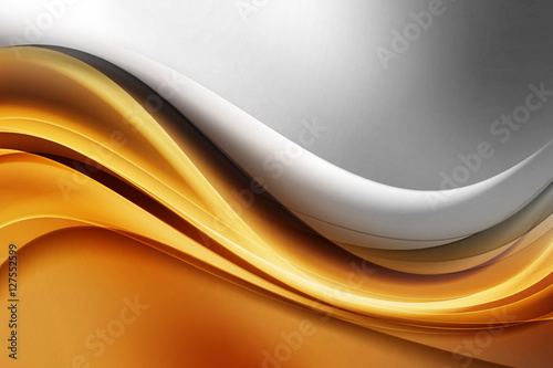 Naklejka na szybę Amazing Gold Grey Wave Abstract Design Modern Background