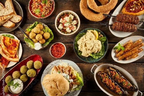 Enormous buffet of middle eastern cuisine © exclusive-design