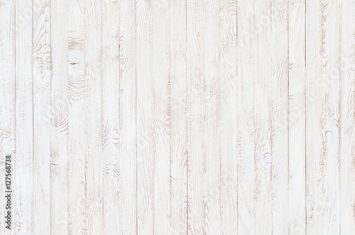 Canvas Print white wood texture background