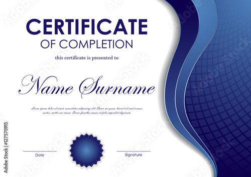 Certificate Of Completion Template Kaufen Sie Diese Vektorgrafik
