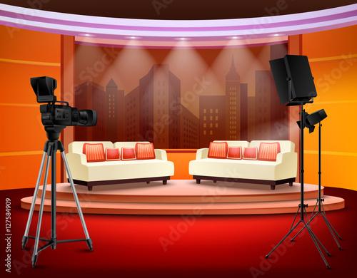 Photo  Talk Show Studio Interior