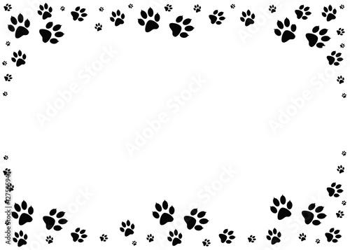 paw prints animal tracks border steps animal drawn for animal track clipart free animal footprint clipart
