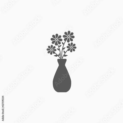 Cuadros en Lienzo flower in vase icon