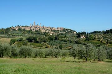 Fototapeta na wymiar San Gimignano city in Italy.