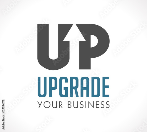 Fotomural  Logo - Upgrade your business