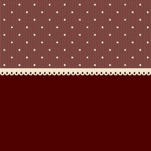 Dark Red Background With Seamless White Lacy Border.
