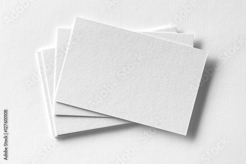 Fényképezés  Corporate stationery set mockup at white textured paper background