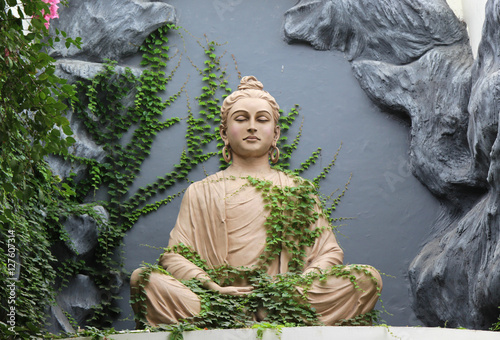 Vászonkép Buddha statue in Rishikesh, India
