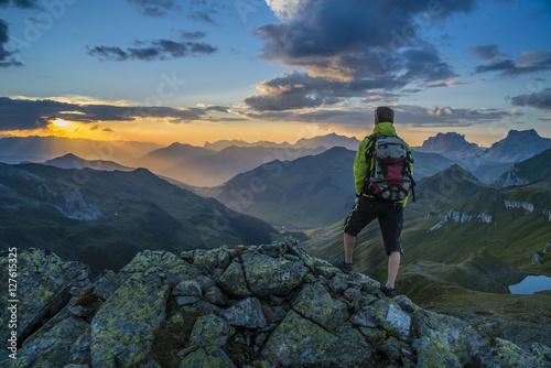 Foto  Wandern in den Alpen