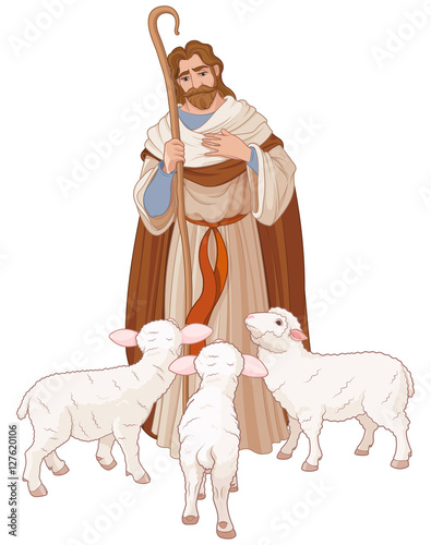 Printed kitchen splashbacks Fairytale World The Good Shepherd