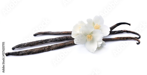 Fotomural Vanilla sticks with flowers